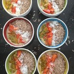 Healthy Smoothie Bowl breakfasts - perfect before or after the surf.