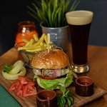 BurgerCraft  selection with home made Craft Draft Beer