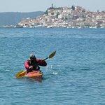 Tribal kayak Argolida -Poros tour unique one paddle in to the canal of Poros