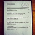 Our recent Menus