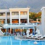 The main pool area of Mythos Palace