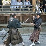 Martial arts in the shrine grounds