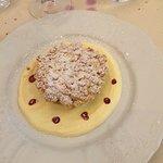 Tortino di mandorle e crema pasticcera...un delizioso dessert