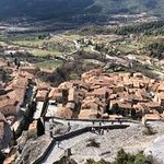 The village of Moustiers.. with Bastide on the outskirts