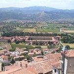 Certosa vista da centro storico.