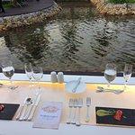 Romantic Dinner - Table setting around lake