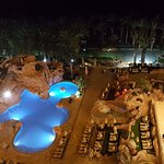 beautifully lit pools