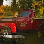 Our often photographed 1950s Red Truck