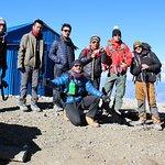 Multi National team guided by Mr Sagar from Saras Travel-Annapurna Circuit Trek combined Mesokan