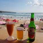cold beer and great fresh fruit juice