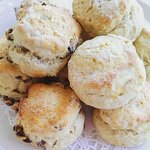 Homemade Scones, made fresh every morning Plain and Fruit flavours as well as ocasional specials
