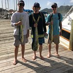 Kyle W, John B & David H with their catch o' the day