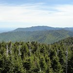Mt LeConte and ridge off in distance