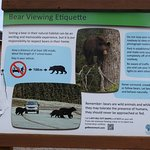 An informative sign about bears.
