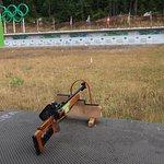 The Biathlon shooting area.
