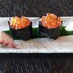 Sushi: Octopus (Tako), Salmon Egg (Ikura)
