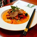 Thai Red Curry with duck breast
