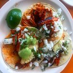 The Al Pastor Tacos: By the way this plate was less than $2.50 USD