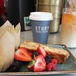Breakfast + coffee in The Study