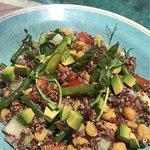 Quinoa salad at the pool