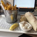 Fish Finger Wrap and Fries (Lunch menu)