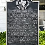 The Texas State Historical Marker in front of the Hudspeth House