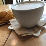 Chai Tea Latte and Butter Croissant