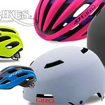 A large selection of Giro helmets