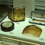 comb and cigarette box