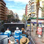 Alicante street view from top of Turibus