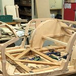 Close up of wooden sub-frame