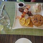 Beef & Shrimp kebabs at Krystal