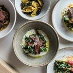 Asparagus, duck ham and sheep's yoghurt
