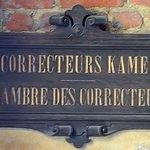 Chambre des correcteurs: dénomination de la salle au-dessus de la porte