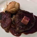 Marie Marie's - Tournedos Rossini w foie gras, port wine reduction and sides (USDA choice beef)