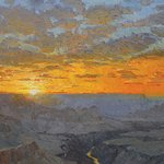 Sunset Over the Abyss by plein air painter Joshua Been