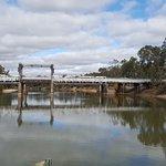 Cobram Bridge opened 1902. Now just a footbridge.