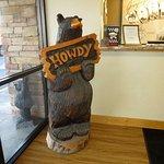 Howdy welcome bear in lobby