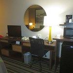 TV, desk and amenities