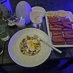 Pasta and fishsticks