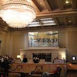 Hotel lobby, very quaint.