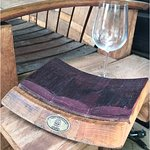 Malbec small wine barrel platter, made from wine barrels