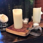 Jack be nimble candle holder made with wine barrel Oak