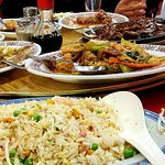Fried rice along with some of the dishes we ordered.