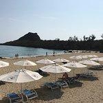 Caesar Park's semi+private beach pool= relaxation + tan