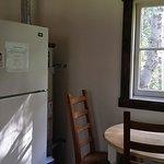 Kitchen with full size fridge