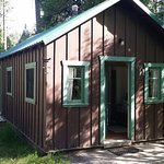 Our cabin, with small deck & bbq grill