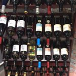 generous imported wine selection