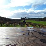 Our beautiful deck outside cellar door