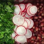 fresh coriander pomegranate